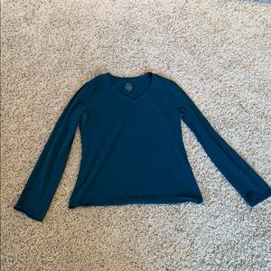 Mossimo blue/green long sleeve v neck tee